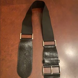 Express chunky wide leather belt